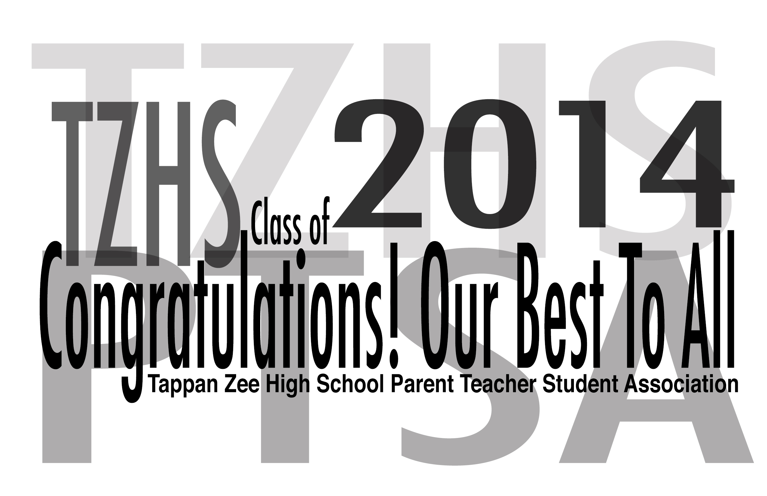 Congratuslations to TZHS Class of 2014
