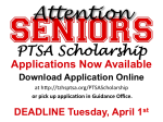 PTSA Scholarship Poster 2014 - Color